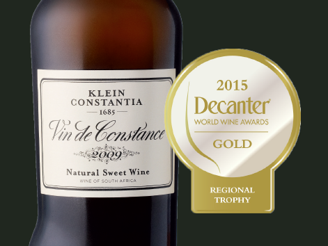 Gold for Vin de Constance 2009